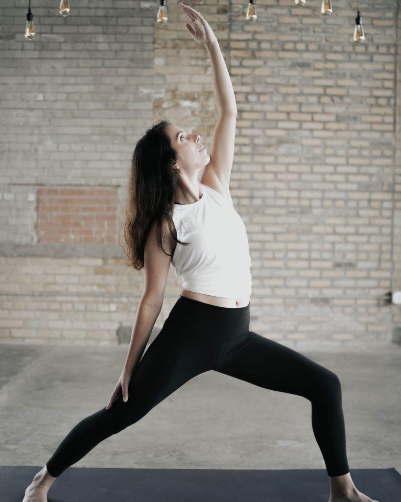 Reverse Warrior, Virtual Vinyasa Yoga with Ella Frances